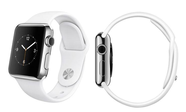 Apple Watch Edelstahl weiss