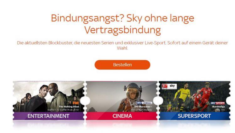 Sky Ticket Bild