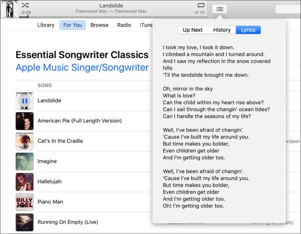 itunes lyrics beta