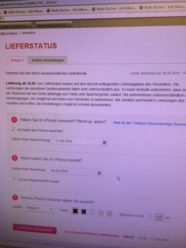 Lieferstatus Telekom