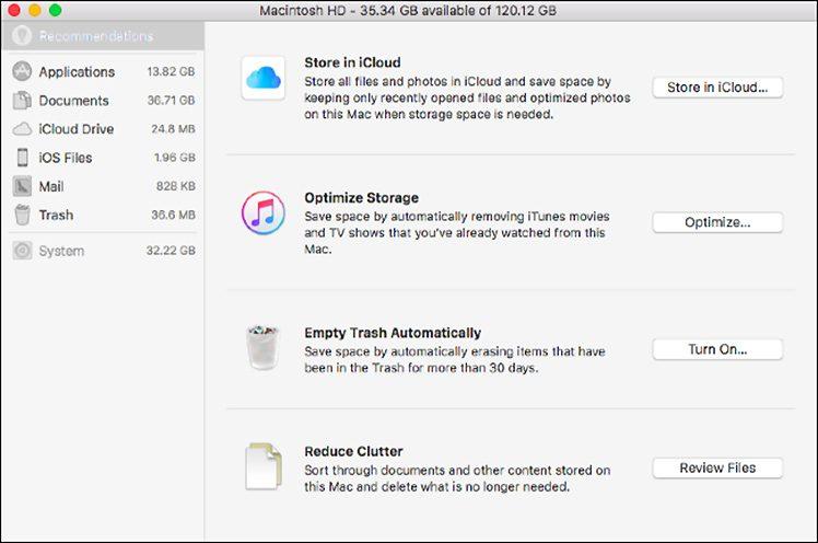 Mac-Speicher sparen