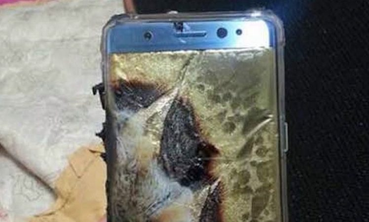 Samsung Galaxy Note 7 Feuer