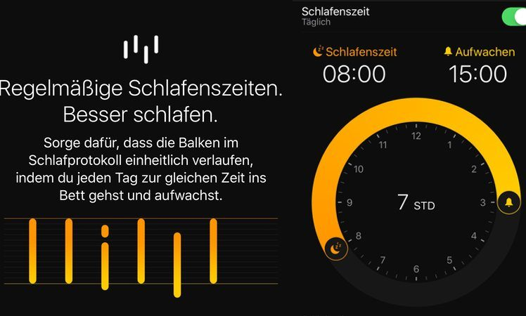 Schlafenszeit iOS 10