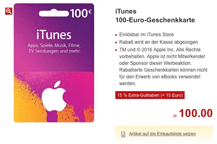 itunes karten im angebot ab donnerstag bonus guthaben itopnews. Black Bedroom Furniture Sets. Home Design Ideas