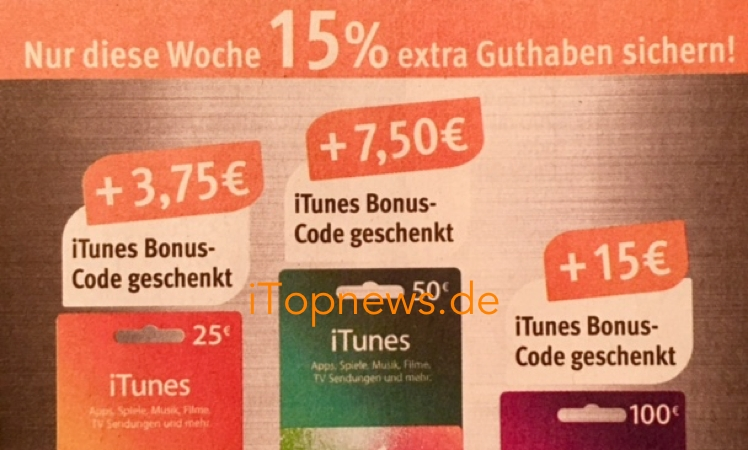 itunes karten n chste woche bonus und rabatt update itopnews. Black Bedroom Furniture Sets. Home Design Ideas