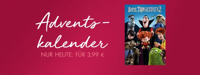 itunes film adventskalender hotel transsilvanien 2 nur 3 99 euro itopnews. Black Bedroom Furniture Sets. Home Design Ideas
