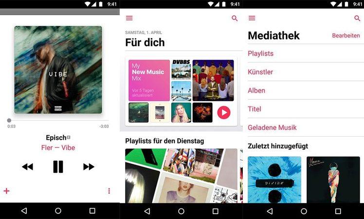 Apple Music 2.0 für Android: Auf Augenhöhe mit iOS-Version