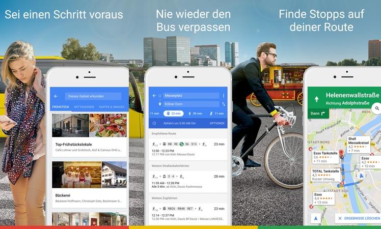 Google Maps: Neues iOS-Widget und iMessage-Erweiterung