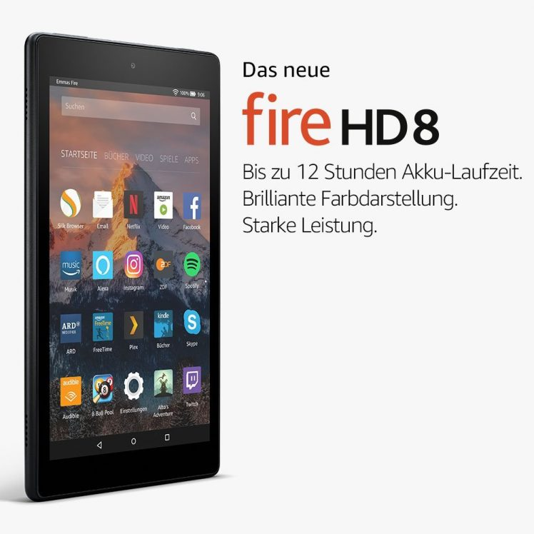 amazon stellt neue fire tablets vor preise specs. Black Bedroom Furniture Sets. Home Design Ideas