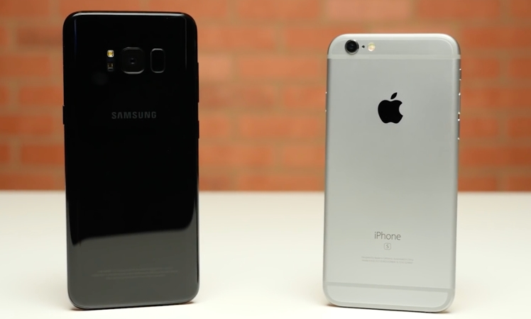 iphone 6s schneller als neues samsung galaxy s8 video itopnews. Black Bedroom Furniture Sets. Home Design Ideas