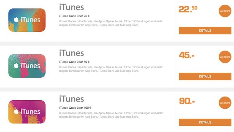 itunes karte rabatt online iTunes Karten: Rabatt jetzt kurze Zeit online sichern | iTopnews