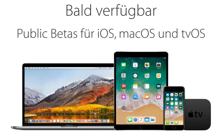Neue Betas für iOS, macOS, watchOS und tvOS von Apple veröffentlicht