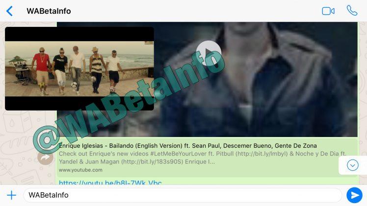 WhatsApp: Leak zeigt neue YouTube-Video-Funktion