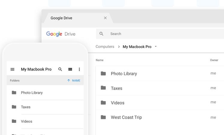 Google Backup & Sync (Google Sicherung & Synchronisation) für macOS
