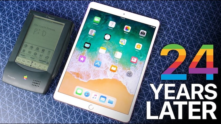 im video 10 5 ipad pro 2017 gegen apple newton 1993. Black Bedroom Furniture Sets. Home Design Ideas