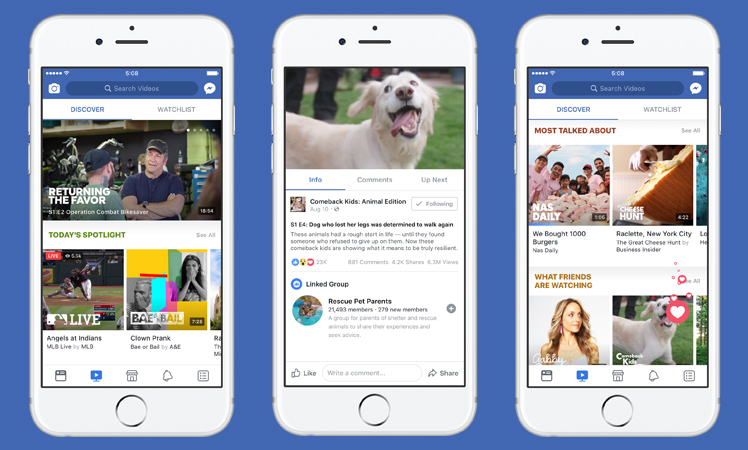Facebook Watch mobile