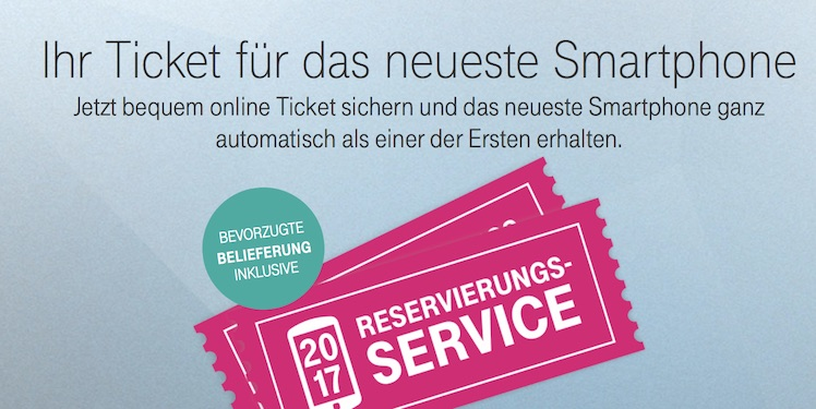 Reservierungs-Service für neue Smartphones