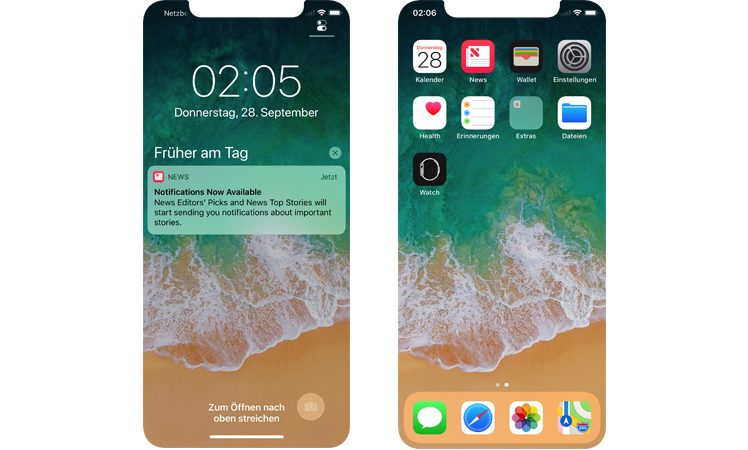 iphone x xcode beta offenbart details des ios 11 designs. Black Bedroom Furniture Sets. Home Design Ideas