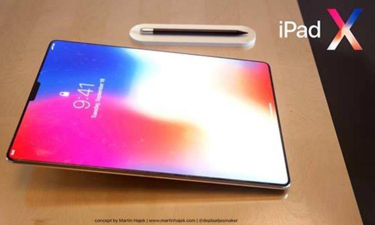 Ergebnis Ist Das IPad X Ein Randloses Tablet Mit Face ID Und Der Vom IPhone Bekannten Vertikalen Dual Kamera Auf Ruckseite