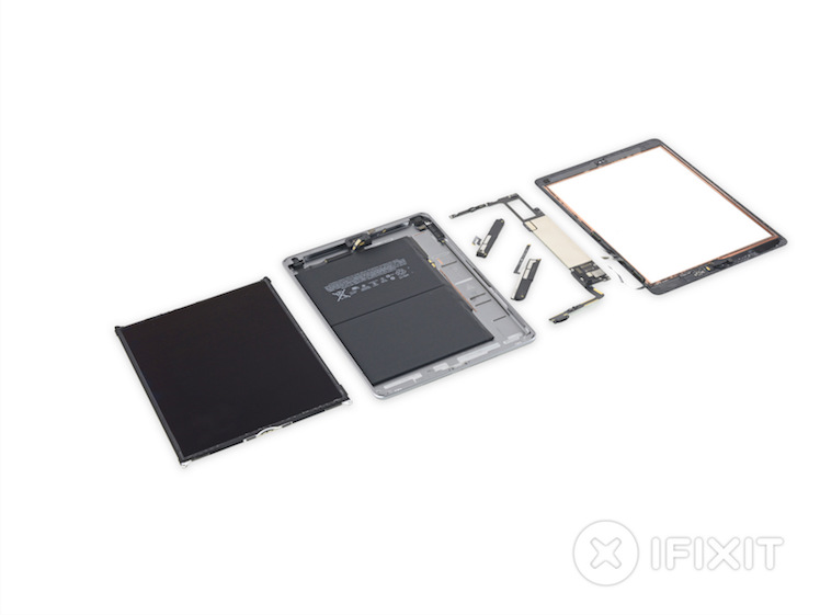 ifixit neues ipad wegen starkem klebstoff schwer zu. Black Bedroom Furniture Sets. Home Design Ideas