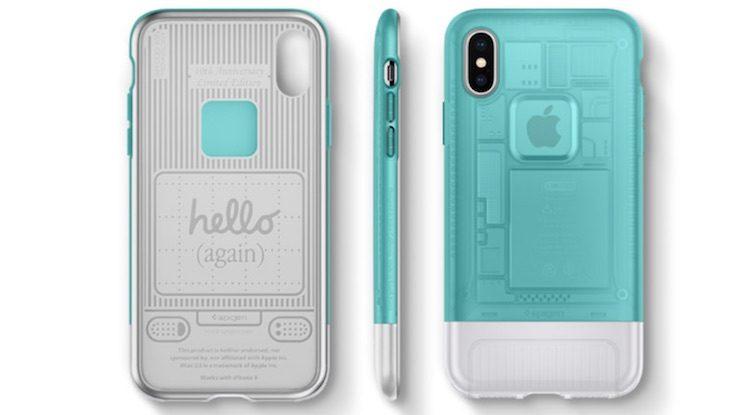 neu spigen iphone x case im design von imac g3 und iphone. Black Bedroom Furniture Sets. Home Design Ideas
