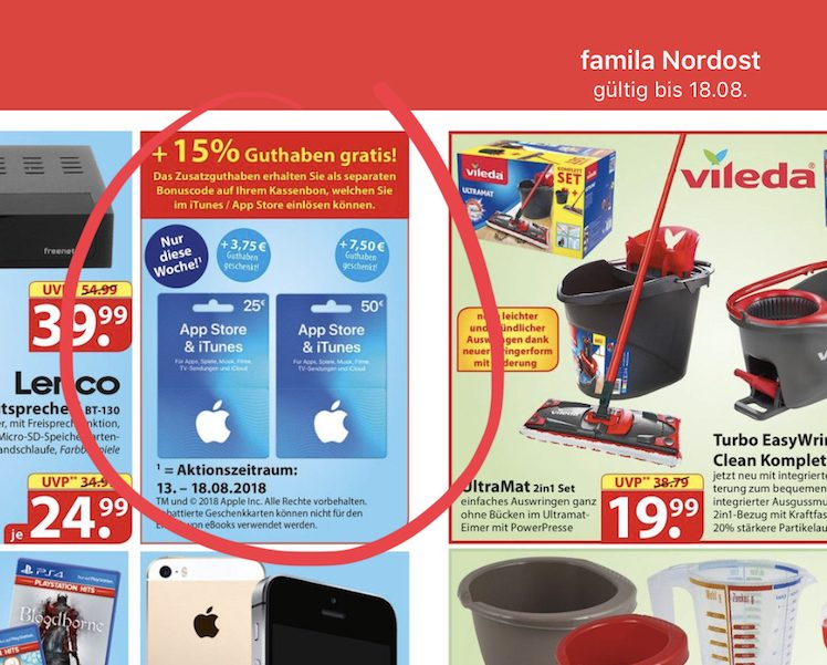 itunes karten g nstiger weiteres neues angebot gestartet itopnews. Black Bedroom Furniture Sets. Home Design Ideas
