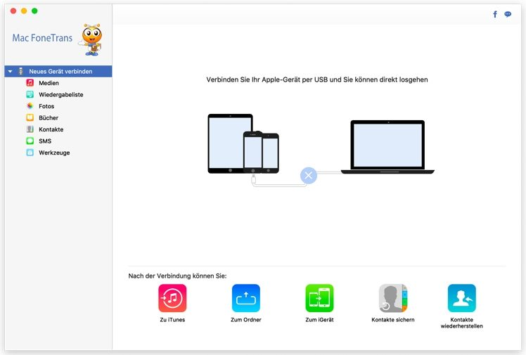 Fonetrans Iphone Daten Vom Und Auf Den Mac Einfach