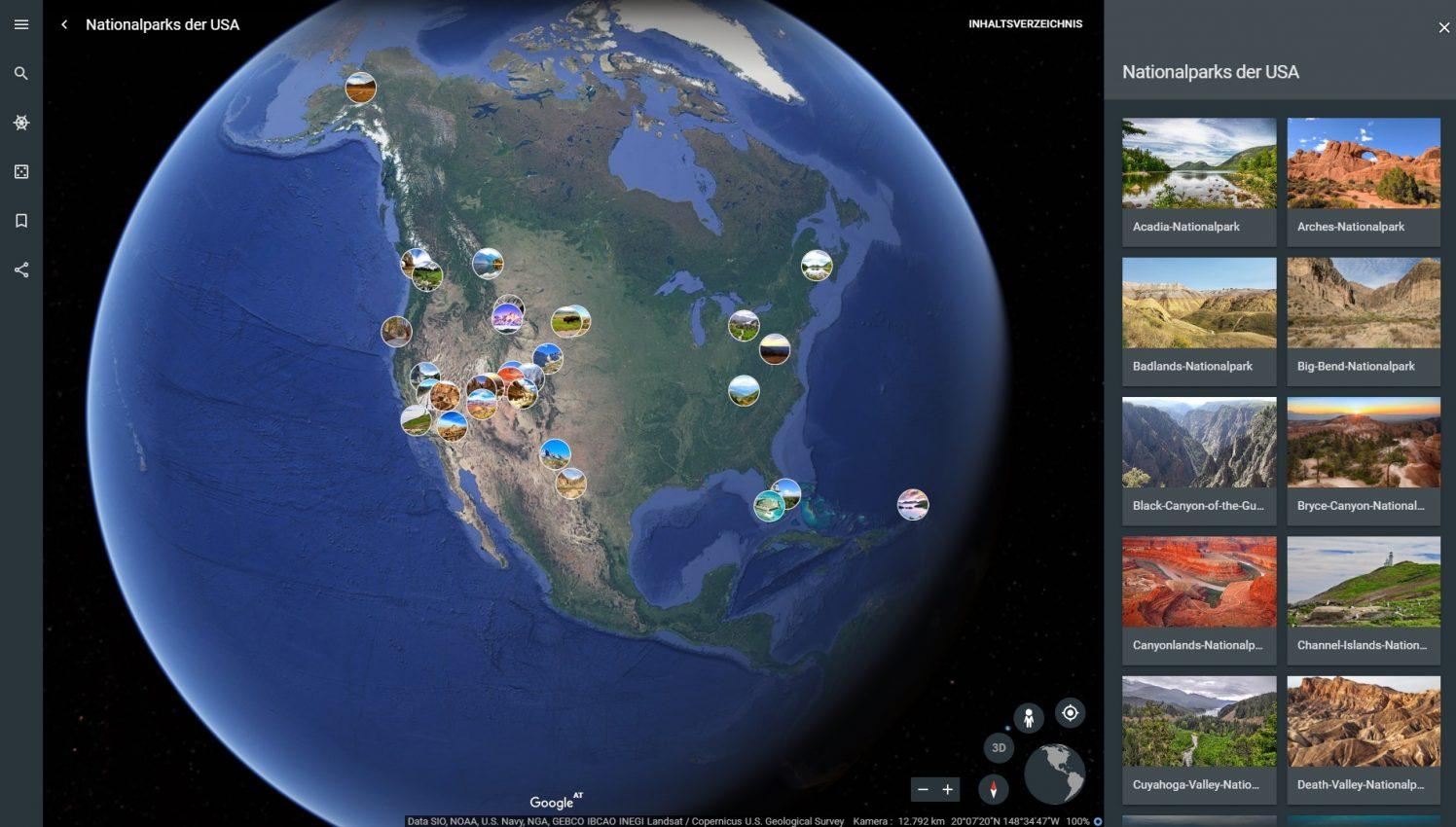 Neu: Google Earth führt Euch durch US-Nationalparks | iTopnews