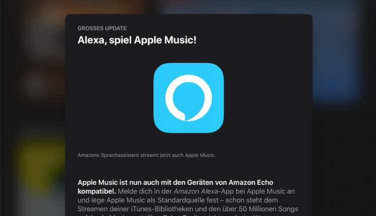 Amazon Echo Lautsprecher ab sofort mit Apple Music kompatibel