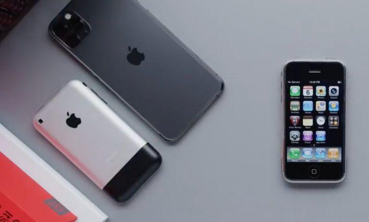 video erstes iphone von 2007 und iphone 11 pro im. Black Bedroom Furniture Sets. Home Design Ideas