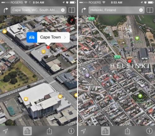 Kapstadt Helsinki 3D Apple Maps