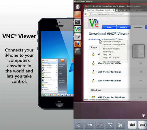 VNC Viewer screen1