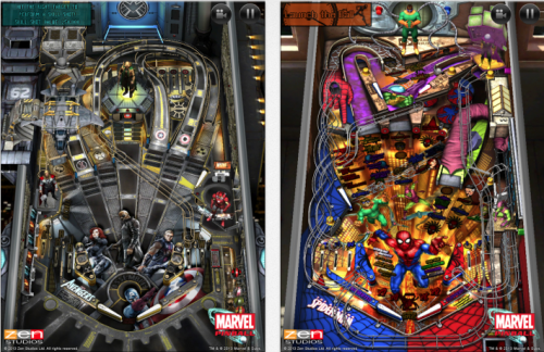 Marvel Pinball Slider