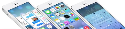 iOS 7 Ansicht Quer