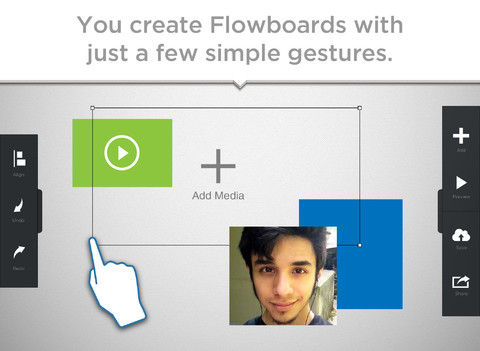 Flowboard touch publishing Screen1