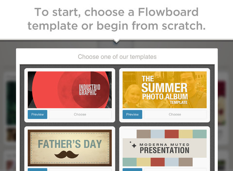Flowboard touch publishing Screen2