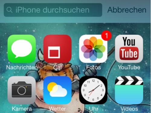Slider iOS 7 vierte Beta