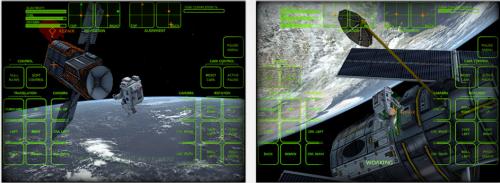 Astronaut Spacewalk iPad Ansicht
