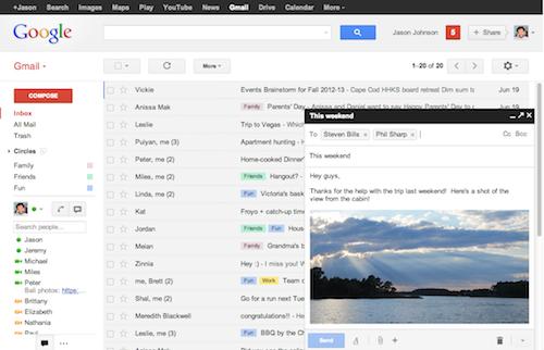 Gmail neue Ansicht