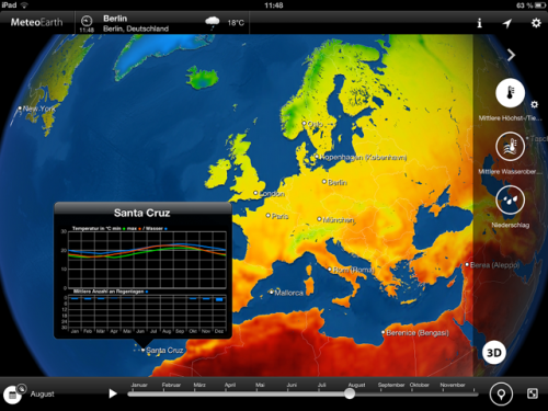 MeteoEarth for iPad Screen1