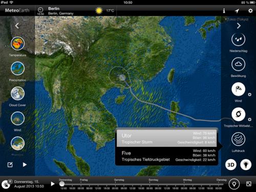 MeteoEarth for iPad Screen2