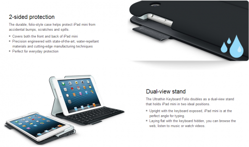 logitech ipad mini keyboard bild 1