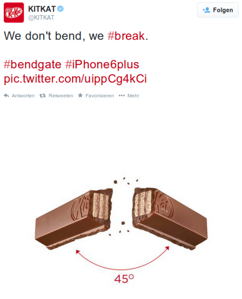KitKat iPhone Bend