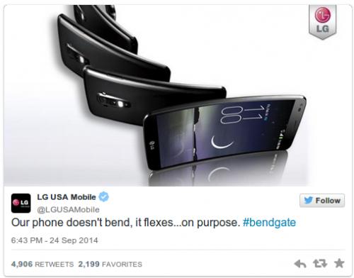 LG G Flex iPhone Bend