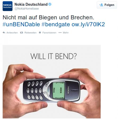 Nokia iPhone bend