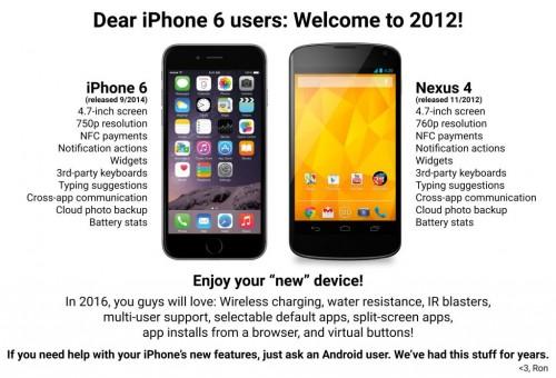 iphone6 nexus 4 Vergleich