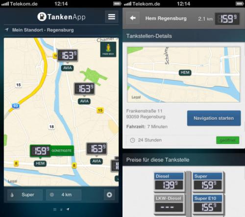 tankenapp screen2