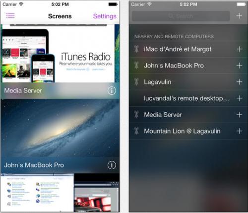 Screens iPhone