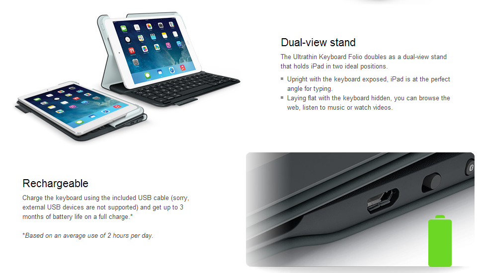 ipad air logitech stellt neues zubeh r vor itopnews. Black Bedroom Furniture Sets. Home Design Ideas