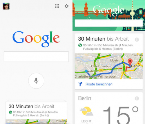 google Suche Update Screen1